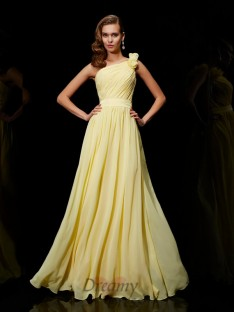 A-Linie/Princess-Linie Chiffon One-Shoulder-Träger Brautjungfernkleider